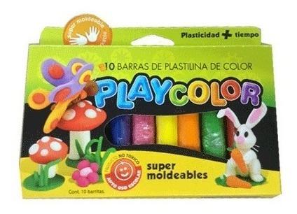 plastilina play color / model surtida x 10