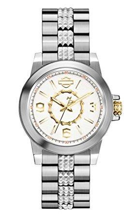 plata acero inoxidable reloj 78l117 de harley-davidson muj