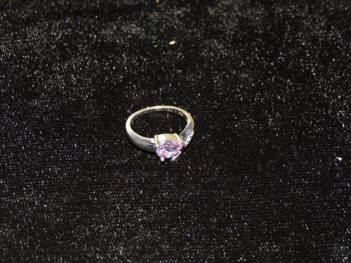 plata amatista anillo