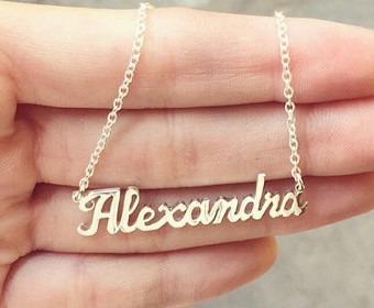 3c76aaf87187 Collar Nombre Personalizado Plata .925 Con Cadena Pareja -   550.00 ...