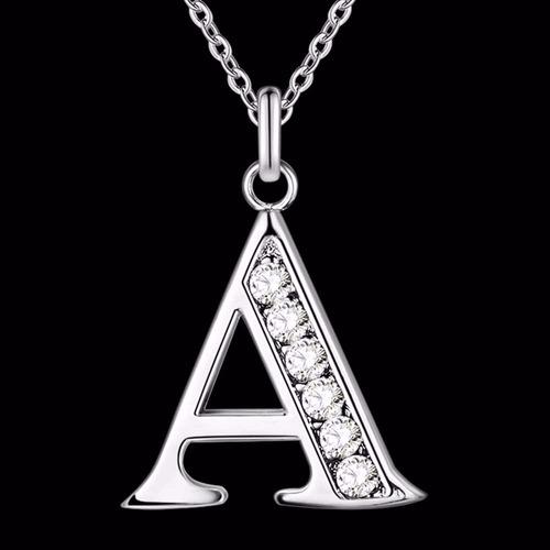 plata cadena collar