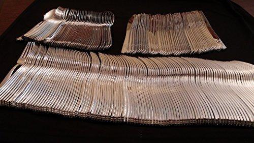 plata como el elegante peso pesado cubiertos de plástico de