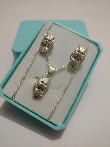 plata cristal collar