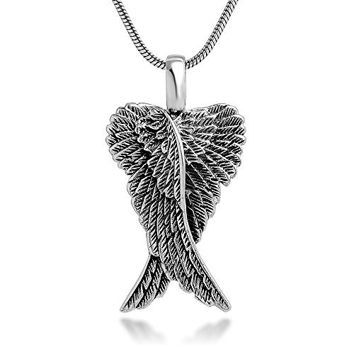 plata de ley 21 mm detallada angel wings encanto collar colg