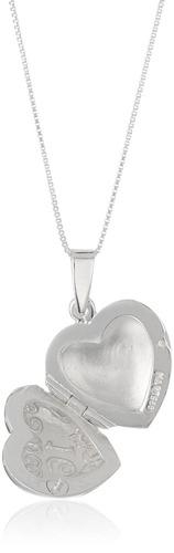 plata esterlina -inchdulce 16-inch collar del locket del cor