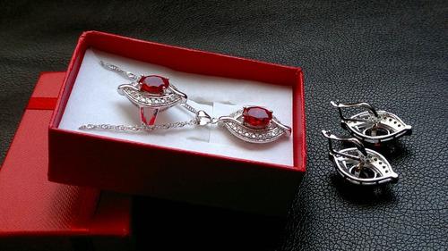 plata granate joyas