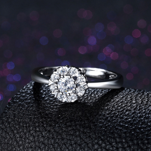 plata joya anillo