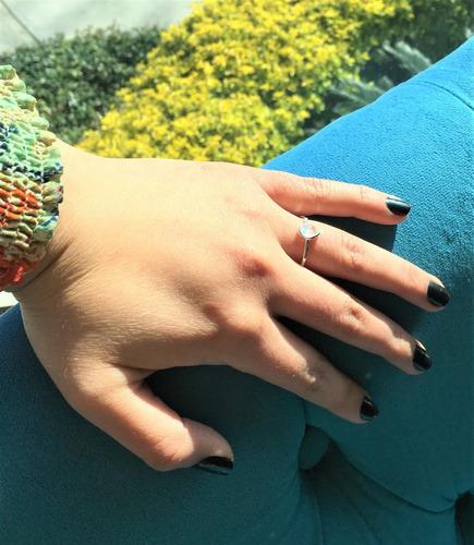plata ópalo anillo