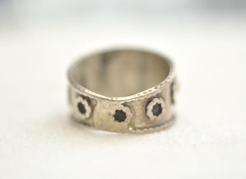 plata oro anillo