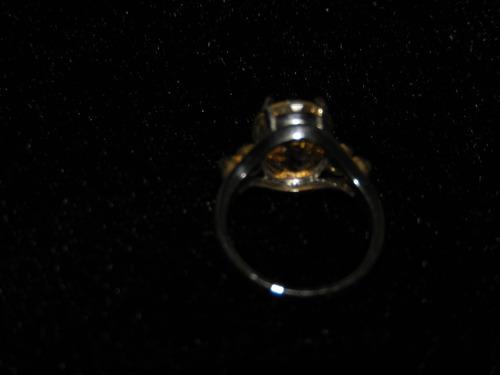 plata topacio anillo