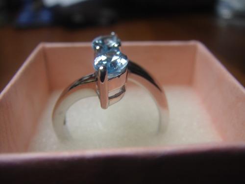 plata topacios anillo