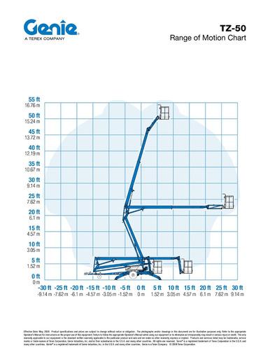 plataforma andamio electrico genie tz-50 venta y alquiler