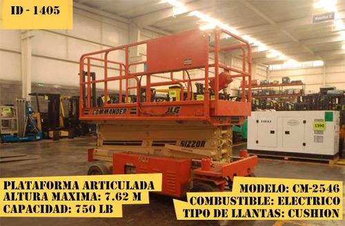 plataforma articulada jlg eléctrico 750 lb modelo cm-2546