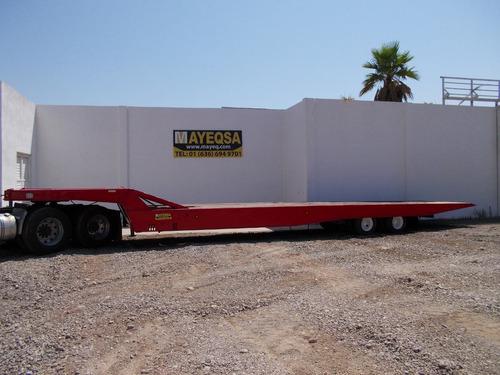 plataforma cama baja rollback hidraulica deslizable winch