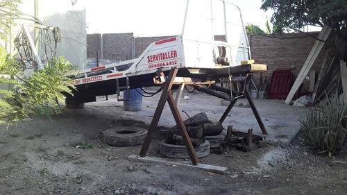 plataforma con equipo hidraulico