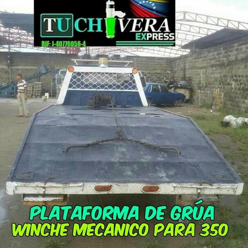 plataforma con winche mecanico para grua