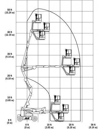 plataforma de elevacion brazo articulado jlg 45e