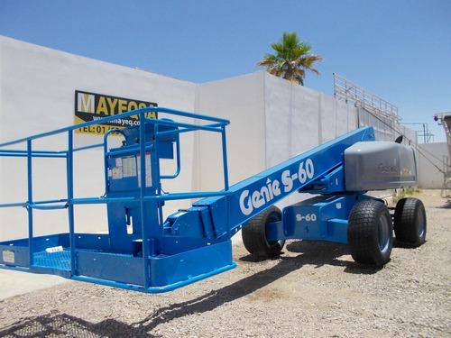 plataforma de elevacion genie s-60 motor a diesel 4x4