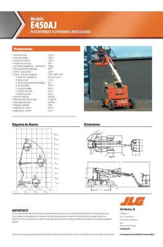 plataforma de elevación modelo jlg e450aj