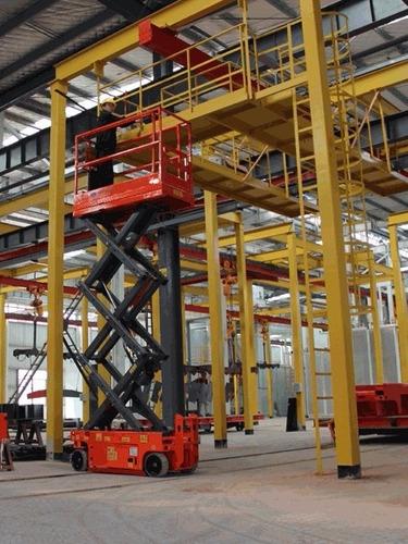 plataforma de elevación tijera eléctrica alt 6.6m. nueva 0km