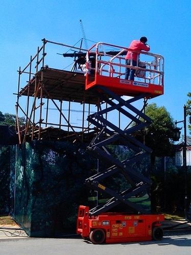 plataforma de elevación tijera eléctrica nueva 0km alt 9.9m