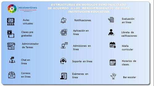 plataforma de gestión escolar, colegial, en linea