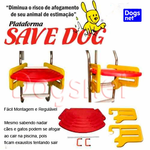 Plataforma de piscina para c es e gatos save dog r for Plataforma para piscina