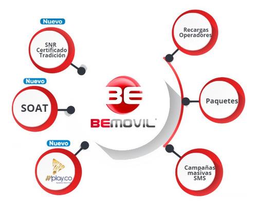 plataforma de recargas bemovil y multiproducto