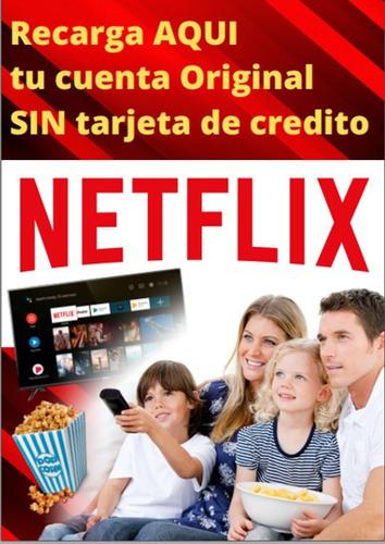plataforma de recargas  netflix,  celular, servicios, tv
