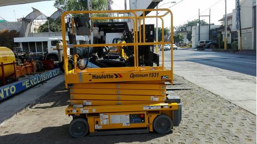 plataforma de tijera eléctrica haulotte renta o venta nueva