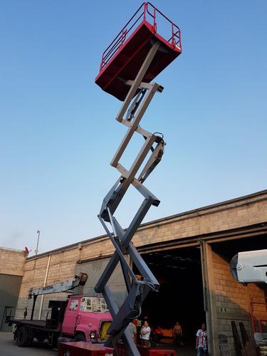 plataforma de tijera eléctrica mec 3772rt