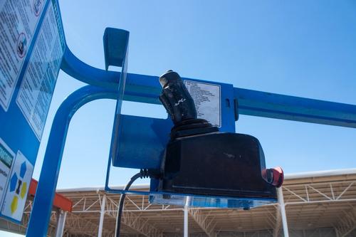 plataforma de tijera eléctrico genie gs1930 2007 6 metros