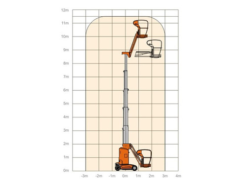 plataforma dingli amwp 11.5-8100 vertical 11 metros m4q
