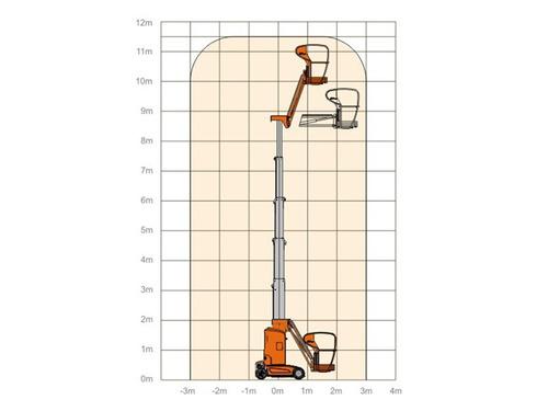 plataforma dingli amwp 11.5-8100 vertical 11 metros motorman