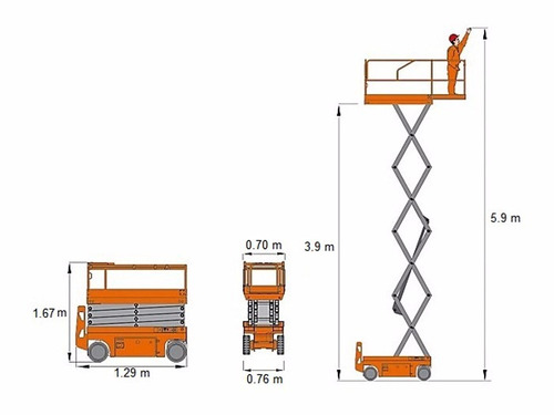 plataforma elevacion alzahombre 6 metros dingli motorman m4q
