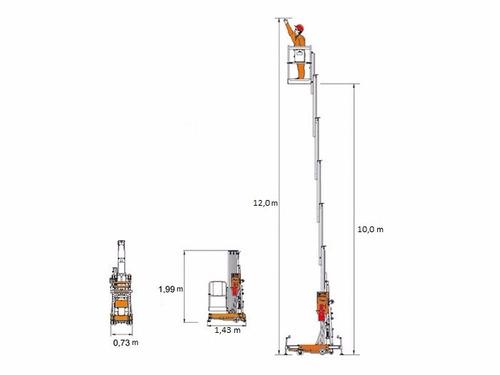 plataforma elevación alzahombre dingli 12 m motorman