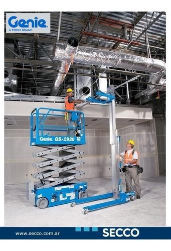 plataforma elevación tijera eléctrica genie nueva 0 hs desde