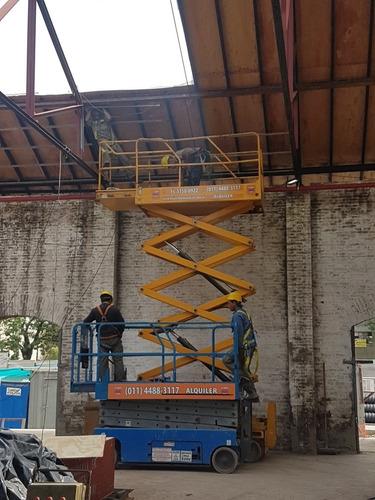 plataforma elevadora tijera alquiler