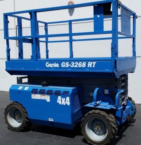 plataforma elevadora tijera diesel 4x4