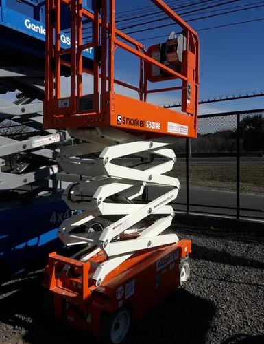 plataforma elevadora tijera eléctrica snorkel s3219e 8mts