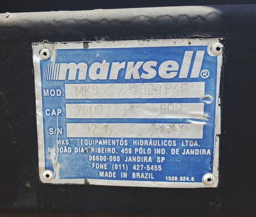 plataforma elevatoria bau 2t marksell toco truck