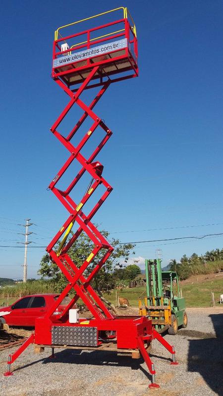 plataforma elevatória, plataforma elevatória tipo tesoura