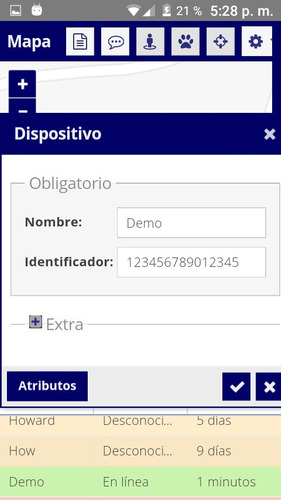 plataforma gps. rastreo satelital. cuenta gratuita