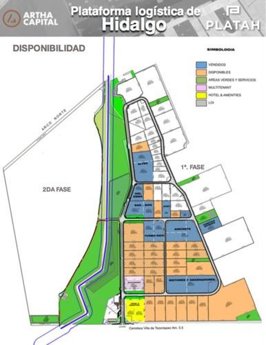 plataforma logística platah, (venta) de terreno para nave, pachuca, hidalgo.