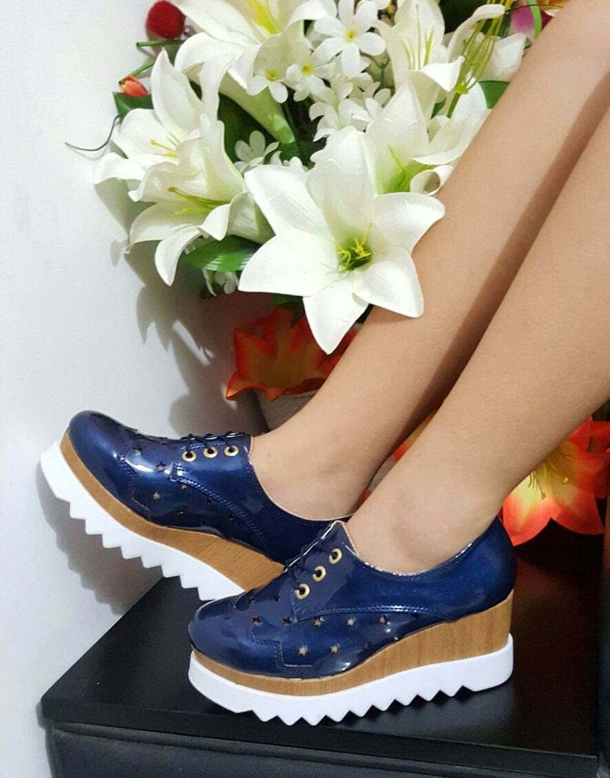 44e7415f plataforma oxford para dama - calzado mujer talla 35 al 40. Cargando zoom.