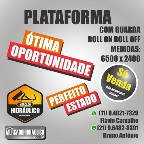 plataforma roll on roll off - com grade / 2010