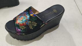 Tercipelo Zapatos De Flor Nuevos Negros Plataforma Con Z8Okn0wPXN