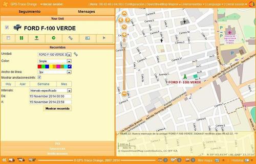 plataforma satelital para gps tracker revendedores (1 año)