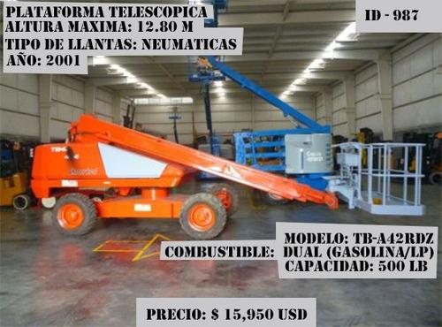 plataforma telescopica snorkel 2001 dual(gasolina/lp)