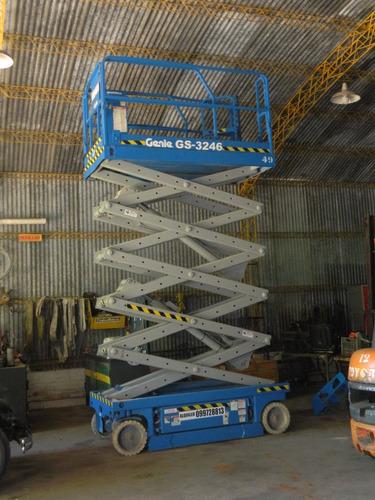 plataforma tijera andamio eléctrica genie gs 3246